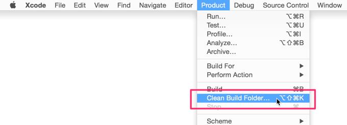 Xcode で Derived Data を簡単に削除する方法